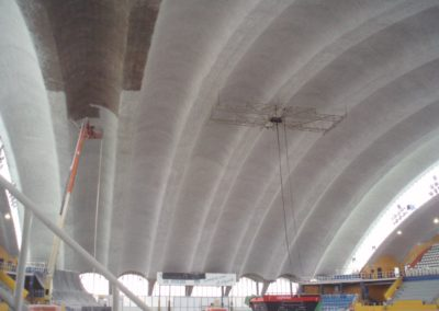 Aislamiento acústico y térmico de bóveda en Pabellón Polideportivo de Oviedo