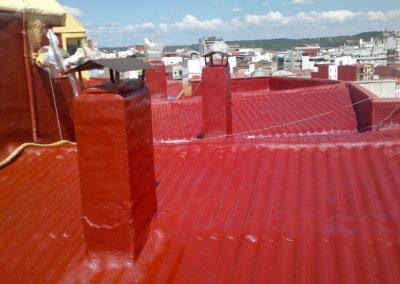 Aislamiento e impermeabilización transitable en cubiertas de eddifcios, Edificio Csa. Sagasta