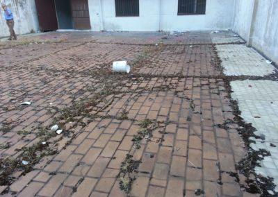 Fases reimpermeabilización de patio. Calle Alacalde M. Castaño (1)
