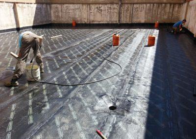 Fases reimpermeabilización de patio. Calle Alacalde M. Castaño (2)