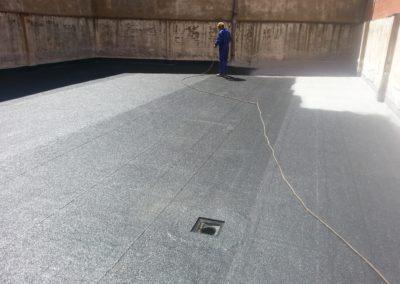 Fases reimpermeabilización de patio. Calle Alacalde M. Castaño