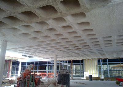 Ignifugación de estructuras metálicas y forjados en Perlita y vermiculita. Hospital de León