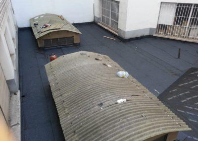 Reimpermeabilización patio en calle San Mames.