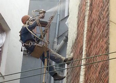 Sellado impermeable de fachada