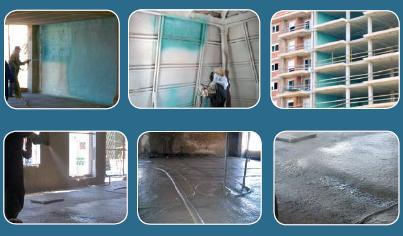 Soluciones Termo-acústicas para edificios nuevos o en uso, por inyección o por proyección.